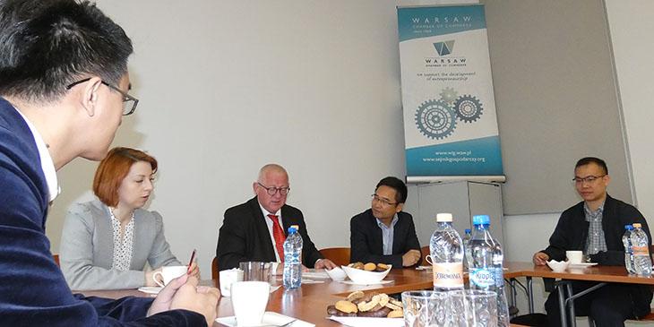Делегация из города Фошань из провинции Гуандун в Китае посетила Торгово-Промышленную Палату Варшавы