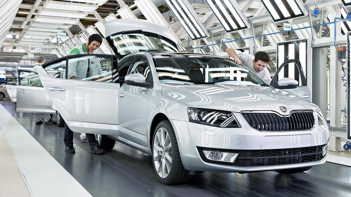 Завод Škoda закрыт на две недели