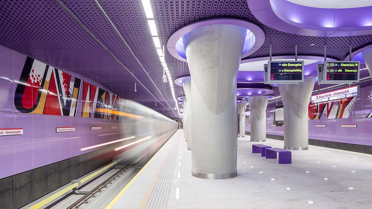 Три новых станции метро в Варшаве
