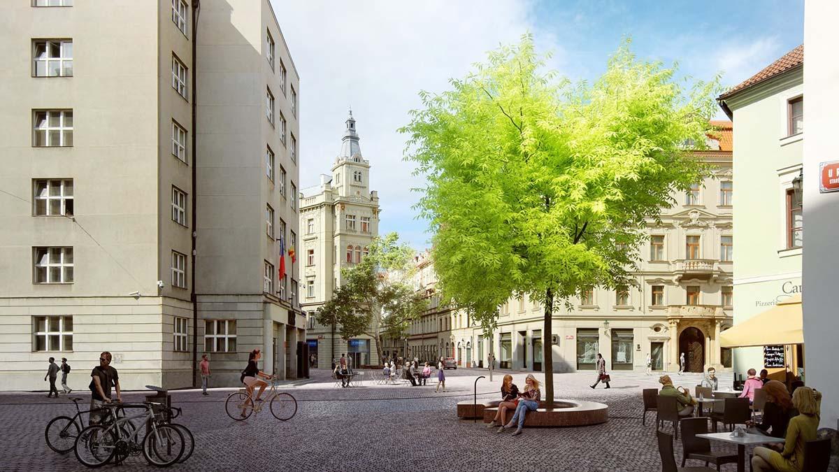Марианская площадь в Праге станет пешеходной