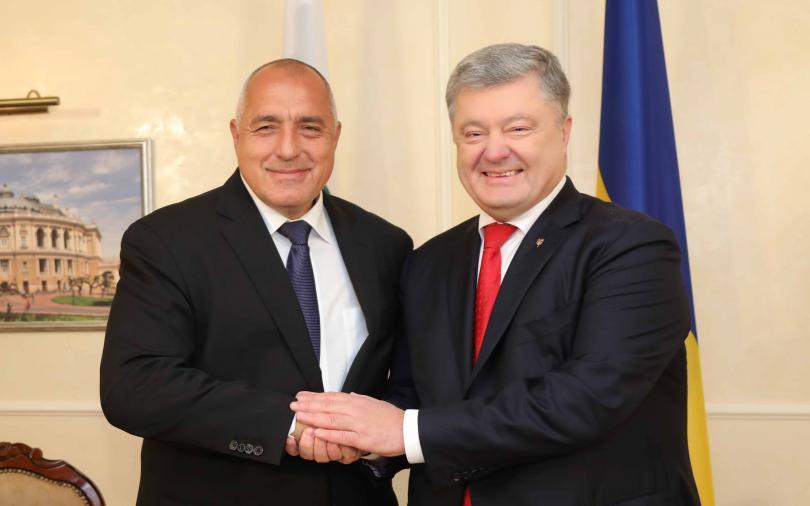 Премьер-министр Болгарии Борисов встретился с Президентом Украины Петром Порошенко