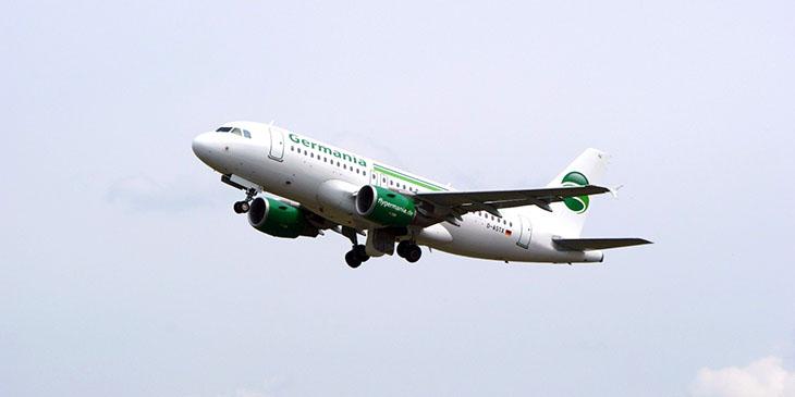 Немецкая авиакомпания Germania объявила о банкротстве. Все рейсы перевозчика отменены